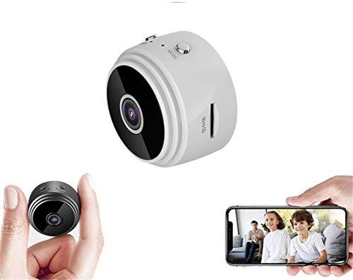 TTCPUYSA Mini Wireless Monitor,1080P HD Mini IP WiFi Camera Camcorder Wireless DVR Night Vision Spy Camera,for Home Indoor Outdoor (White)