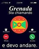 Grenada Sta Chiamando E Devo Andare.: Notebook Sketchbook for Travellers, Grenada Flag,Grenada Travel Journal, 120 pagine, Lined, 6x9 (Italian Edition)