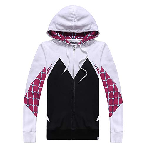 Gwen Zipper Zip-up Hoodies Pullover Sweatshirt Jacket Coat Top Cosplay Costume S