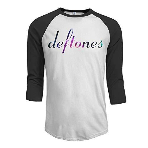 fghfghe Deftones Men's pour des Hommes 3/4 Sleeve Raglan Baseball T Shirt Black