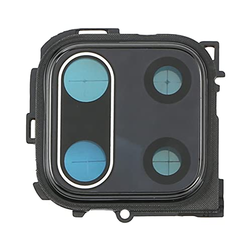 COMPATIBILE Per Xiaomi Redmi Note 9S   Redmi Note 9 Pro Max M2003J6A1G M2003J6B1I vetro posteriore vetrino scocca lente obbiettivo + Cornice RING rear fotocamera BACK camera NERO