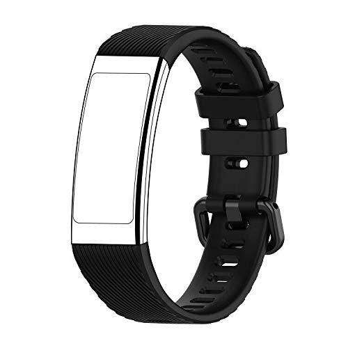 SPGUARD Armband Kompatibe mit Huawei Band 3 Pro Armband, Huawei Band 3 Pro Ersatzband TPE Uhrenarmband mit Schnellverschluss für Huawei Band 3 Pro