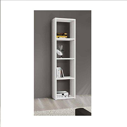 Giò Luxury Libreria Bianco Frassinato, Stile Moderno, In Mdf Laminato - Mis. 46 X 30 X 175