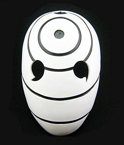 Gmasking Resin Tobi Obito Naruto Uchiha Cosplay Helmet Mask+Gmask Keychain