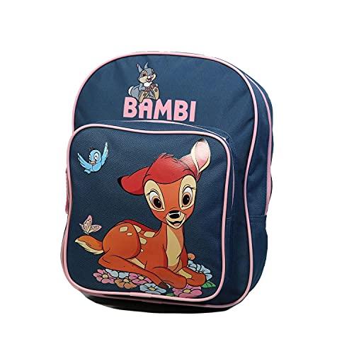 Mochila de 31 cm con bolsillo Bambi Disney azul gris Bagtrotter