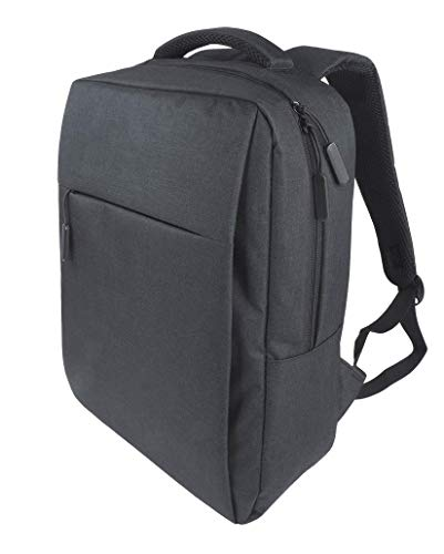PERSONA Laptop backpack for laptops up to 15 inches with USB port, 100% polyester 1580D, ultra-light, W 28 x H 40 x D 11.5 cm, weight approx. 0.5 kg, padded back, adjustable back straps