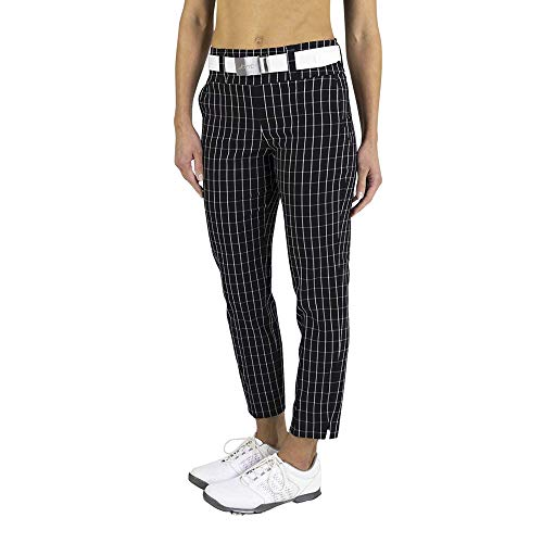 Jofit Women's Athletic Clothing Jo Slimmer Cropped Pant, Size X-Large, Twill Check