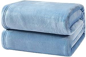 Bedsure ブランケット フランネル 140x200cm シングル おしゃれ プレミアムマイクロファイバー 毛布 あったかい オールシーズン 柔らかく肌触り 洗える