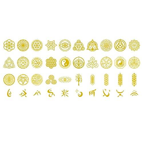40 piezas de cobre de la etiqueta engomada del árbol de la vida de la torre de la energía de la pirámide de la resina epox