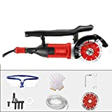CLL Circular Saw Single chip Slotting Machine Concrete Wall Cutting Artifact dust-Free Water and Electricity Installation Wall Cutting Machine Tool