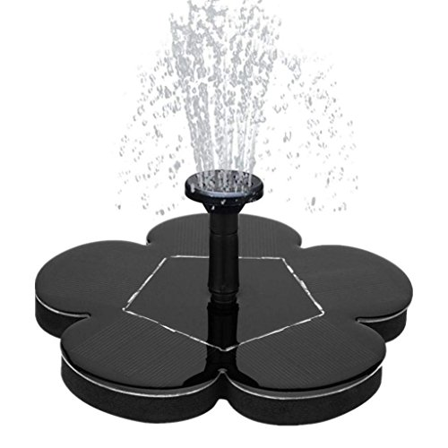 Solar Water Fountain for Bird Bath, Solar Fountain Water Pumps Freestanding Submersible for Small Pond,Fish Tank, Patio, Garden Decoration 1.4 W Solar Panel Water Pump Kit, Solar Pond Pump (AS70)