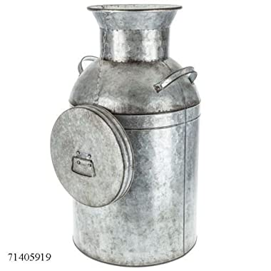 Large Galvanized Metal Milk Can Farmhouse Country Charm Decor HUGE CAN!