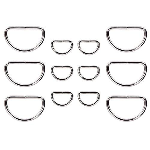 100 Stück Metall D Ring Nicht Verschweißt Vernickelt Loop Ring für Gürtelschnallen Taschen Gürtel