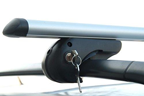 VDP Alu Relingträger Rio 135 kompatibel mit Skoda Yeti ab 09 Dachträger bis abschließbar