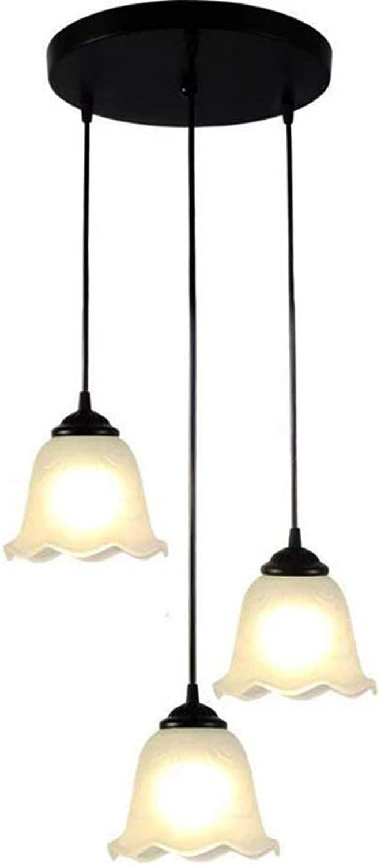 3 lustre en verre rétro Edison, suspension moderne Luminaires de cuisine de maison de campagne rétro moderne, plafonniers en verre d'éclairage