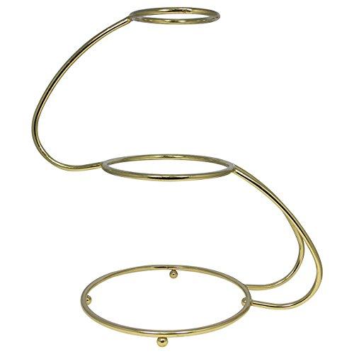PME SSG581 Présentoir à Gâteaux Doré en Forme de S à 3 Étages, Acier Inoxydable, Gold, 50 x 30 x 50 cm