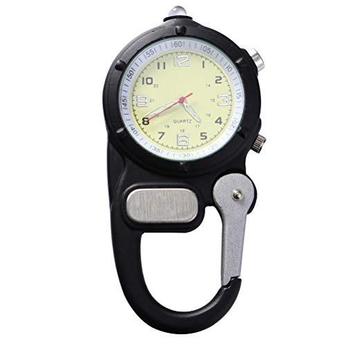 Abaodam Fob Watch Reloj de montañismo portátil LED Reloj Backpacker para al aire libre