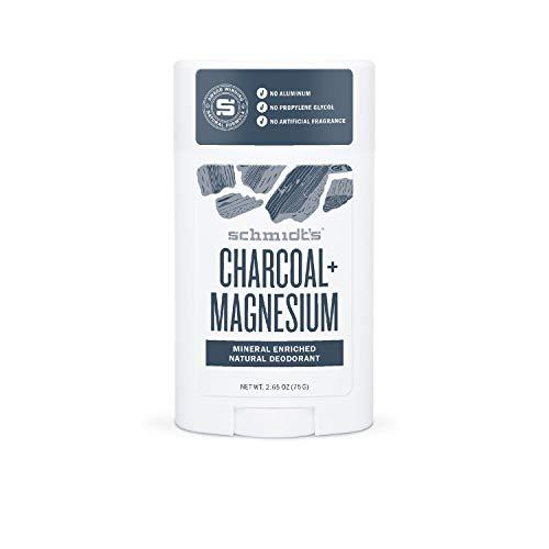 Schmidt's Natural Deodorant, für alle Hauttypen Charcoal + Magnesium ohne Aluminium, 1er Pack (1 x 58 ml)