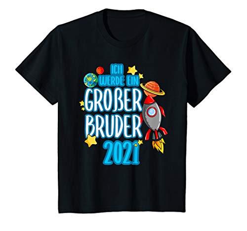 Kinder Ich werde Großer Bruder 2021 Weltraum Rakete Space Weltall T-Shirt