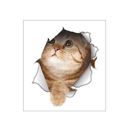 3D Wandtattoos Aufkleber Lebendige Katze Hund Abnehmbare PVC Toilettensitz Wandaufkleber Loch Kühlschrank Poster DIY Wohnkultur