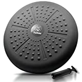 Wobble Cushion - Wiggle Seat to Improve Sitting Posture & Attention - Stability Balance Disc for Physical Therapy, Lower Back Pain Relief & Core Strength for Kids&Adults [Extra Thick, Pump Included]