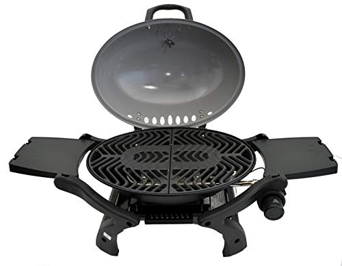 ACTIVA Grill Tischgasgrill Tischgrill Gas Crosby, Camping Grill, 3,4 KW Brenner, Outdoor Tischgrill Grau - 2