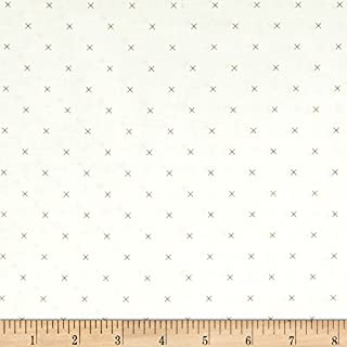 Riley Blake Designs Riley Blake Bee Backgrounds Cross Stitch Brown Fabric By The Yard