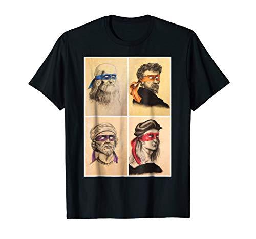 Renaissance Ninja Artists Poster Style Pop Art TShirt