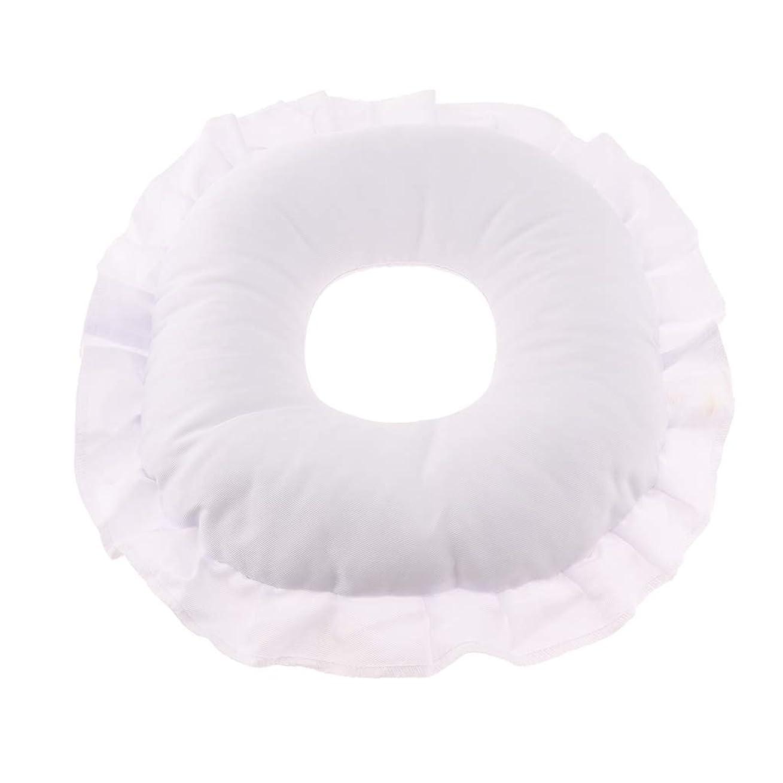 更新するほかに提供Fenteer マッサージテーブルピロー フェイスピロー 顔枕 フェイスクッション 柔軟 洗えるカバー 全3色 - 白