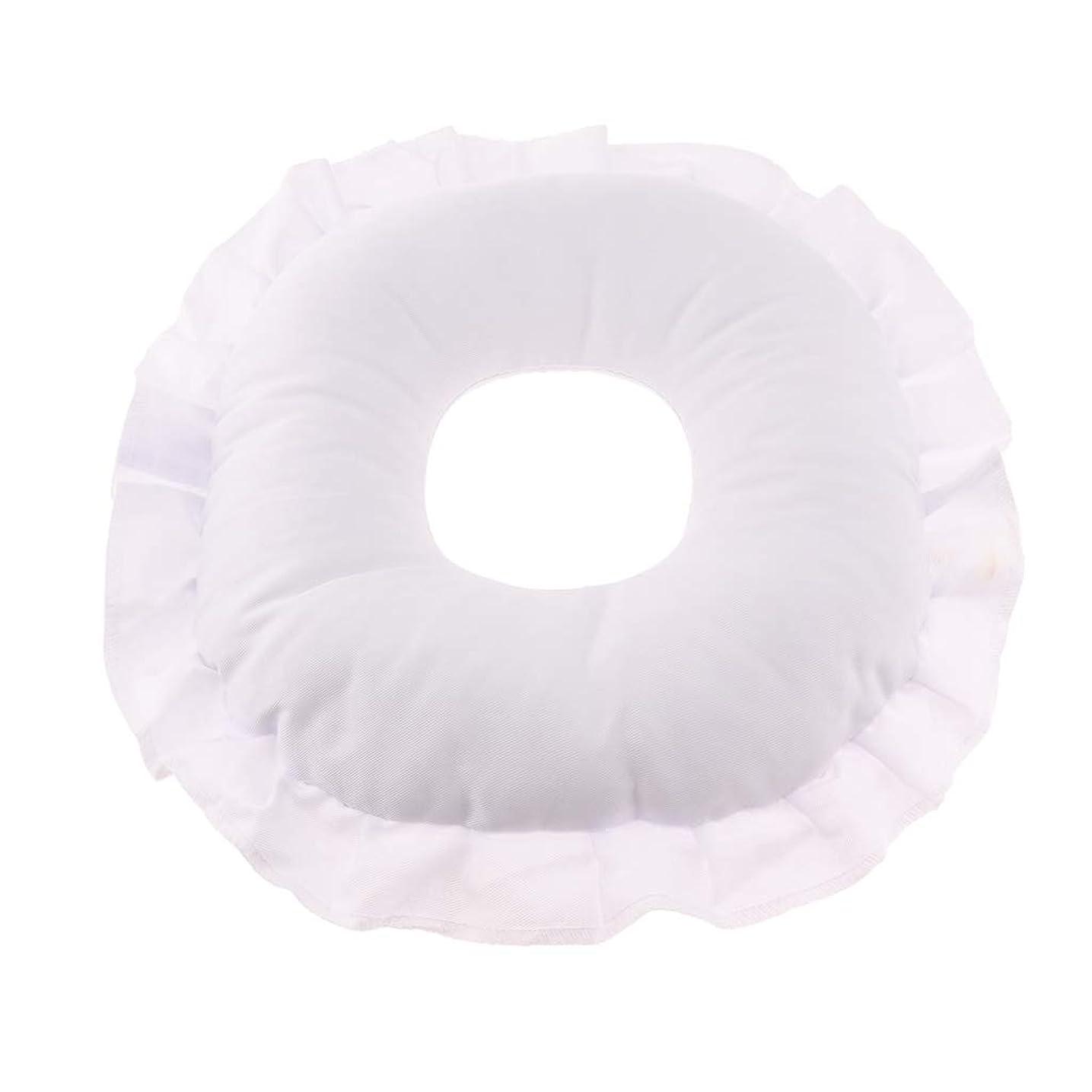 誕生日保護ささいなFenteer マッサージテーブルピロー フェイスピロー 顔枕 フェイスクッション 柔軟 洗えるカバー 全3色 - 白