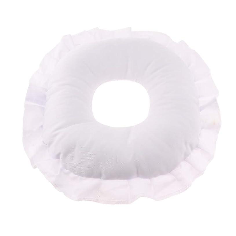 記念日ヒロイックパフFenteer マッサージテーブルピロー フェイスピロー 顔枕 フェイスクッション 柔軟 洗えるカバー 全3色 - 白