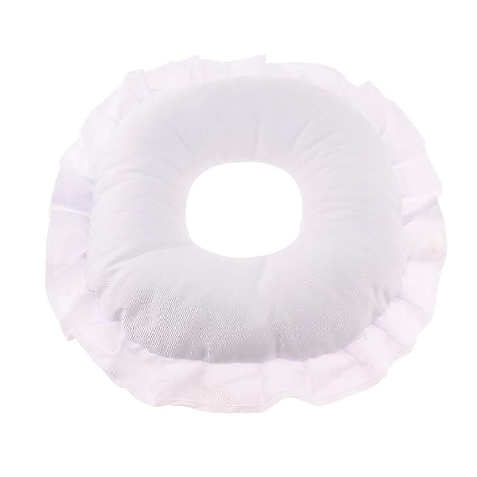 あえて熱心な雑草Fenteer マッサージテーブルピロー フェイスピロー 顔枕 フェイスクッション 柔軟 洗えるカバー 全3色 - 白