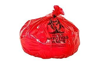 Oakridge OSHA Approved Biohazard Safety Bags  25 Gallon   50 Bags  - Professional Grade