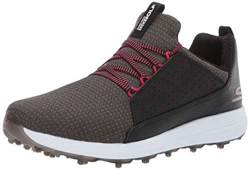 Skechers Women's Max Mojo Spikeless Golf Shoe, Black/hot Pink, 10.0 M US