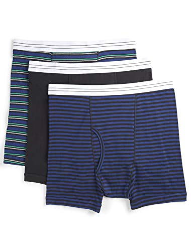 Harbor Bay by DXL Big and Tall 3-Pack Assorted Boxer Briefs, Navy Stripe, 6XL