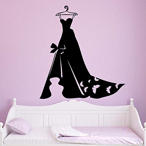 sanzangtang Damen Abendkleid Tapete Home Dekoration Aufkleber Schlafzimmer Kleiderschrank Wandbild,39x41cm