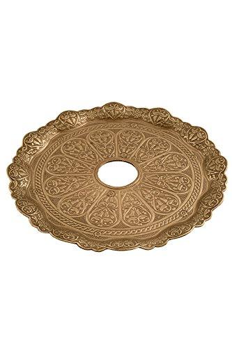 Kaya Shisha Tebzi Teller Oriental Gold, Fassung 40 mm - Durchmesser 22 cm