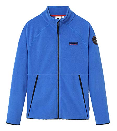 Napapijri Chaqueta de fleaca NP0A4EML en 2 colores 0411 negro o BE11 azul DAZZLING TEAR (M, BE11 Blue DAZZLING)