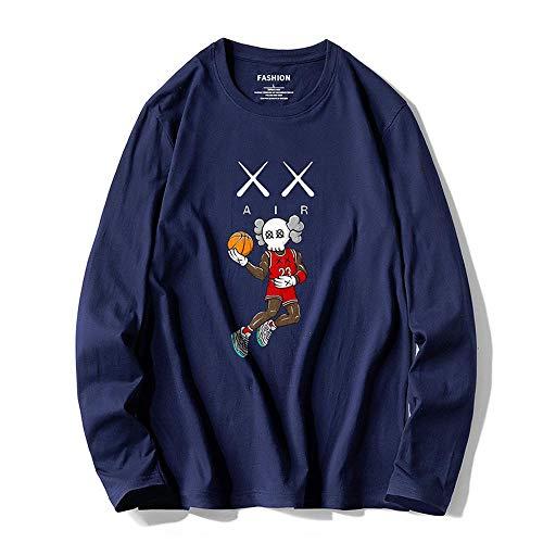 YX Sweatshirt trui Sesamstraat KAWS mannen en vrouwen trui casual los katoen coltrui paar 9-L