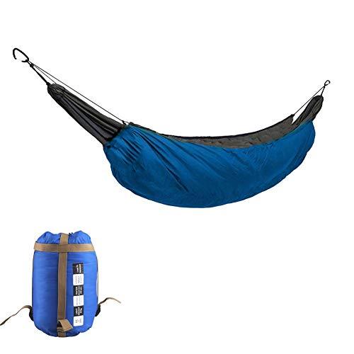 BSFYUK Hamac Quilt Ultra Chaud Accessoires hamac Puffy Couverture Camping hamac Top Blanket Quilt et Stade de Temps Froid résistant aux intempéries (90 * 43in),Bleu