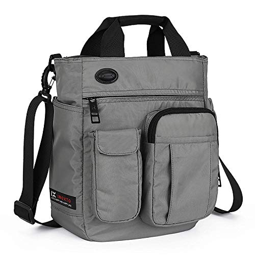 Crossbody Messenger Bag, Multifunctional Shoulder Bag, Laptop Bag for for Men and Women Sport Travel Business (Gray)