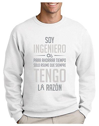 Sudadera para Hombre - Regalos para Ingenieros - Soy Ingeniero Solo Asume Que Siempre Tengo la Razón XX-Large Blanco