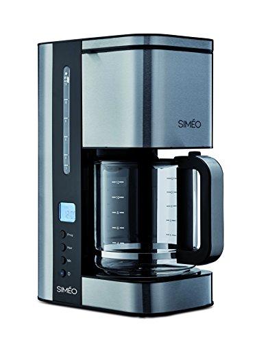 Simeo cfp200freistehend halbautomatisch (freistehend, Filter-Kaffeemaschine Kaffeemaschine, schwarz, Edelstahl, Karaffe, Tasten, LCD)