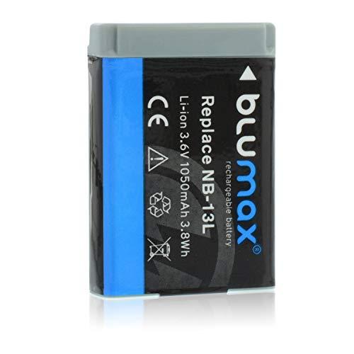 Blumax Batteria sostitutiva per Canon NB-13L NB13L con InfoCHIP! / 1050 mAh 3,6 V compatibile con Canon PowerShot SX620 SX720 SX730 SX740 G1 X Mark III G5 X G7 X G9 X e G7 X Mark II G9 X Mark II