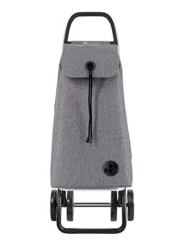 Rolser Carro I-MAX Tweed 4 Ruedas Plegable - Gris