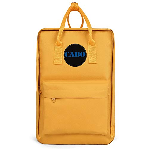 Best Mens Waterproof Backpacks Cabo-Yachts-logo- Bookbags Womens Oxford School Bag