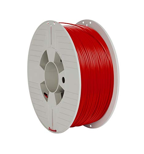 VERBATIM PLA-Filament 3D-Printing I 1,75mm I 1kg I high end polyactide-Filament for Material Extrusion I for 3D-Printer & 3D-Pen I 3D-Printer-Filament Made of PLA I 1 Spool 335m I red
