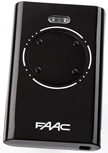 FAAC XT4 868SLH Electric Gate Remote Control Black by FAAC