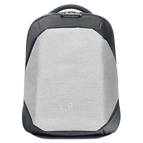 ClickPack Rucksack Design von Korin, Business Laptop Rucksäcke Anti Thief Travel Bag passt bis zu 15,4 Zoll Macbook (Rucksack nur, grau)
