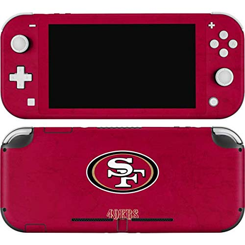 Skinit Decal Gaming Skin Compatible with Nintendo Switch Lite - Officially Licensed NFL San Francisco 49ers Distressed Design